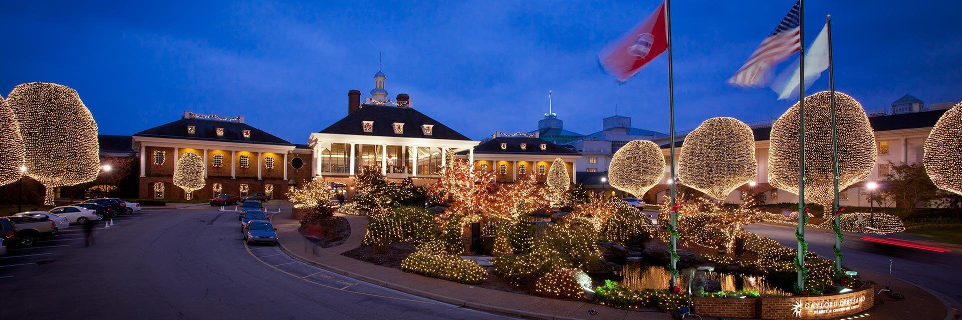 Gaylord Opryland Nashville Exterior During Christmas